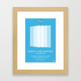 Maria and the mirrors Framed Art Print