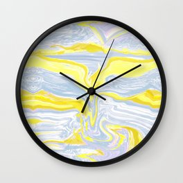 Spring soft serve marble Wall Clock