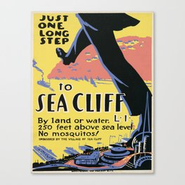 Vintage poster - Sea Cliff Canvas Print