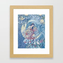 Chang'e, Lady of the Moon Framed Art Print