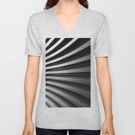 Curved Lines Unisex V-Neck