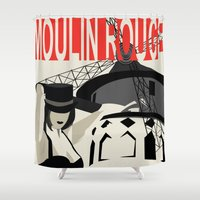 burlesque Shower Curtains featuring Spectacle Du Burlesque! by Katy Souders