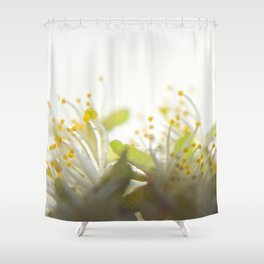 Abstract Filament Shower Curtain