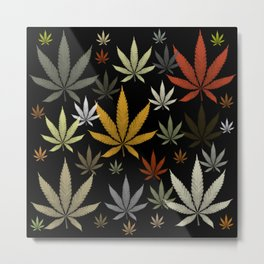 Marijuana Cannabis Weed Pot Leaves Metal Print
