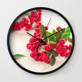 Red fruit Wall Clock