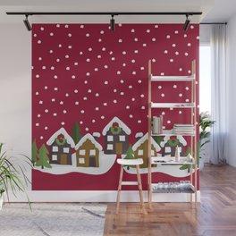 Winter idyll Wall Mural