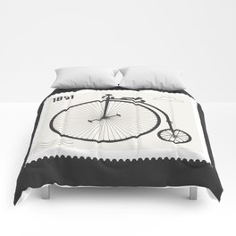 Penny Farthing 1891 Comforters