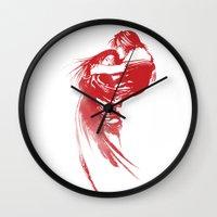 final fantasy Wall Clocks featuring FINAL FANTASY VIII  by DrakenStuff+