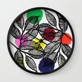 pom pom plant Wall Clock