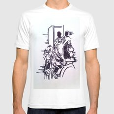 Sherlock White Mens Fitted Tee SMALL