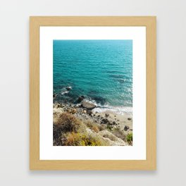 A Wild Beach Framed Art Print