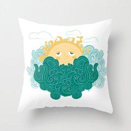 Ocean happy dawn Throw Pillow