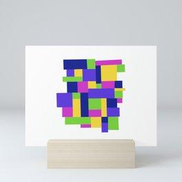 Happy colors quadrille Mini Art Print