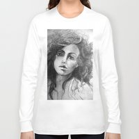 jessica lange Long Sleeve T-shirts featuring Jessica by Judy Hung