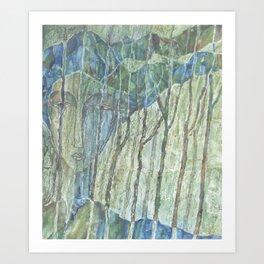 Entre árboles N° 2 (Among trees) Art Print