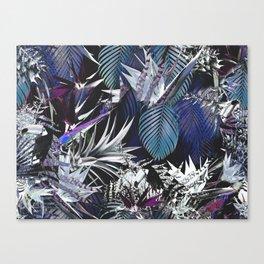 Silver jungle Canvas Print