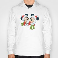 minnie mouse Hoodies featuring Christmas Mickey Mouse and Minnie Mouse by Yuliya L