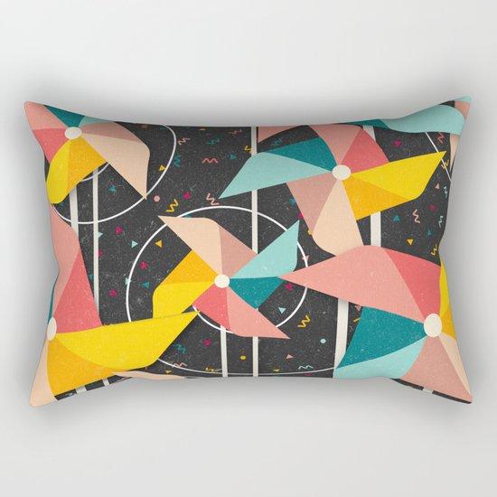 Colourful Pinwheels Rectangular Pillow