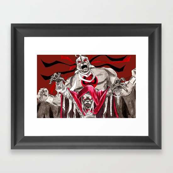 """Ancient spirits of evil, transform this decayed form to Mumm-Ra, the Ever-Living!"" Framed Art Print"