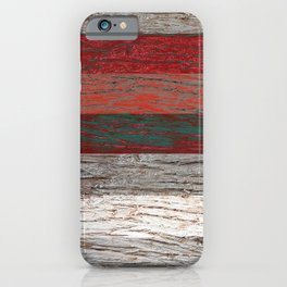 Tree bark wood striped gray red . iPhone Case