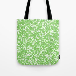 Green Flash Pixels Tote Bag