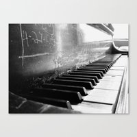 black keys Canvas Prints featuring Black Keys by Kylie Kotraba