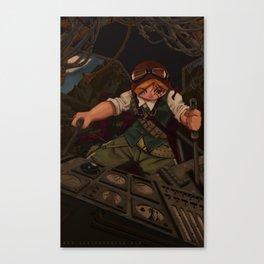 Wartech Pilot Canvas Print