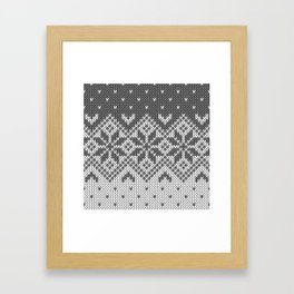 Winter knitted pattern 8 Framed Art Print