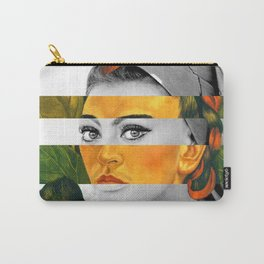 Frida Kahlo's Self Portrait with Monkey & Sophia Loren Carry-All Pouch
