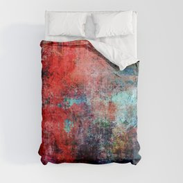 Modern  Red Abstract Design Comforters