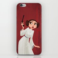 leia iPhone & iPod Skins featuring Leia by Samantha Youssef