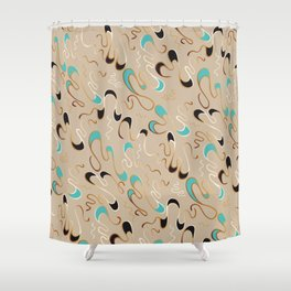 Lucky Squiggles – A Touch of Tiffany Shower Curtain