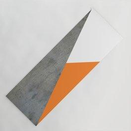 Concrete Tangerine White Yoga Mat