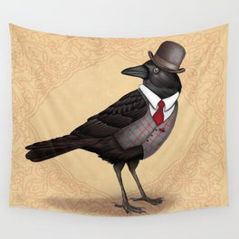 Mr Crow On Payday Wall Tapestry