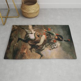 An Officer of the Imperial Horse Guards Charging Rug