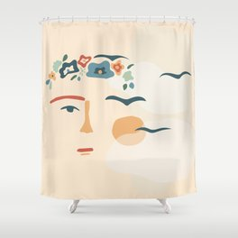 Feet, what do I need them for If I have wings to fly Shower Curtain