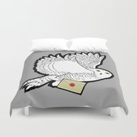 hedwig Duvet Covers featuring Hedwig by AriesNamarie
