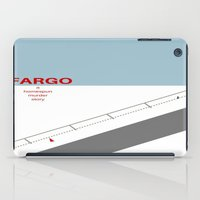 fargo iPad Cases featuring Fargo minimalist poster by cinemaminimalist