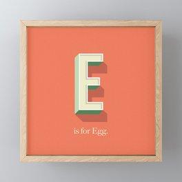 E is for Egg Framed Mini Art Print