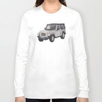 jeep Long Sleeve T-shirts featuring Jeep Wrangler 2012 by Megan Yiu