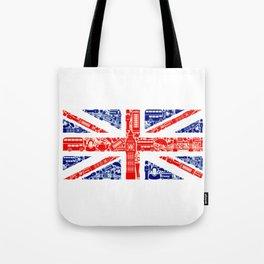 Great Britain Landmark Flag Tote Bag