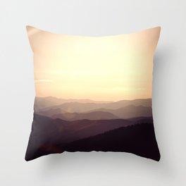 Smokier Mountain Throw Pillow