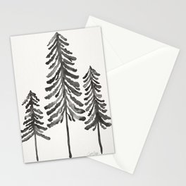 Pine Trees – Black Ink Stationery Cards