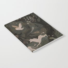 Spooky Forest with Ghosts Notebook