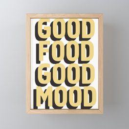 GOOD FOOD GOOD MOOD Framed Mini Art Print