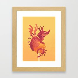 Dragonpop alebrije cherry orange Framed Art Print