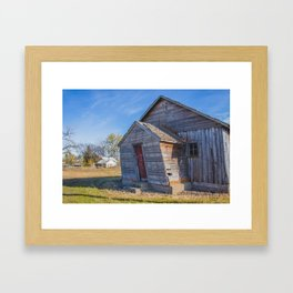 CCC-Built KC Hall, Huff, North Dakota 2 Framed Art Print