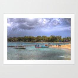 Caribbean Summer Beach Art Print