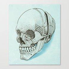 Human skull Canvas Print