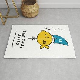 I'm Statically Typed - Funny JavaScript Typescript Fish Rug